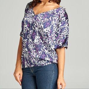 Tops - 1 left! Size M pretty in purple top